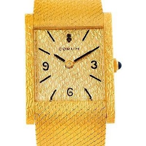 Corum Corum Vintage 18k Yellow Gold Mens Watch 8764