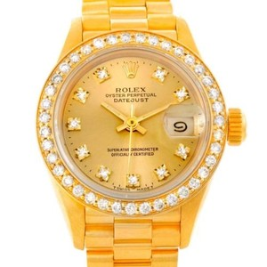 Rolex Rolex President Ladies 18k Yellow Gold Diamond Watch 69178
