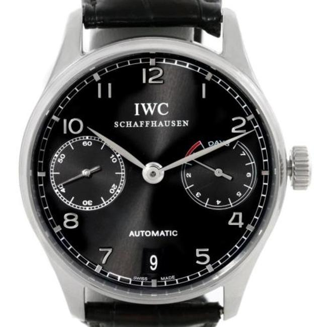 IWC Black Portuguese Chrono Day Power Reserve Iw500109 Watch IWC Black Portuguese Chrono Day Power Reserve Iw500109 Watch Image 1