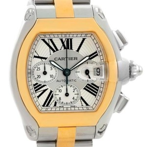 Cartier Cartier Roadster Chronograph Mens Steel Yellow Gold Watch W62027z1