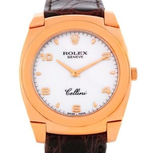 Rolex Rolex Cellini Cestello 18k Rose Gold White Dial Watch 5330