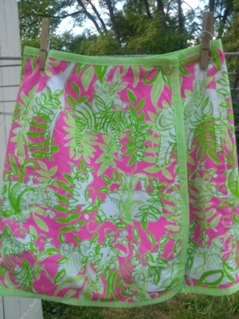 Lilly Pulitzer Skirt greens & pinks
