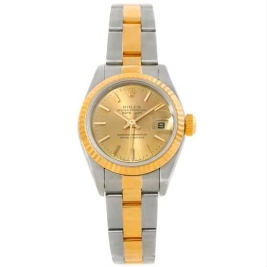 Rolex Rolex Datejust Ladies Steel 18k Yellow Gold Watch 69173