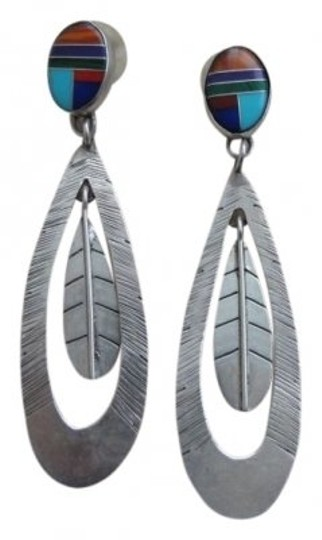 Preload https://item4.tradesy.com/images/turquoisecorallapiz-and-silver-pierced-earrings-34573-0-0.jpg?width=440&height=440