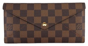 Louis Vuitton Louis Vuitton Origami Damier Ebene Coated Camvas Bi-Fold Wallet (43616)