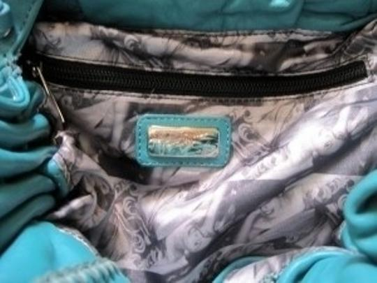 Junior Drake Stitched Side Zipper Satchel in Teal