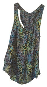 Voxx New York Top Blue, Green, Black, Grey Animal Print