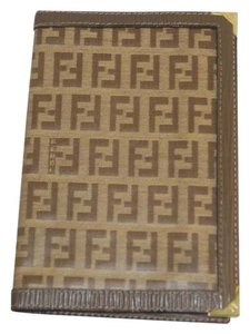 Fendi Fendi Tan Brown Logo Signature Canvas 4x6