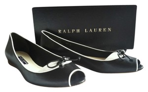 Ralph Lauren Collection BLACK/WHITE Flats
