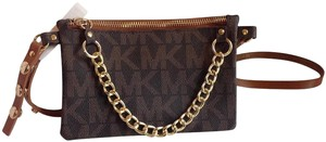 Michael Kors NWT MICHAEL KORS BROWN LOGO BAG BELT SIZE L 554131C