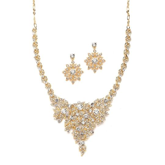 Mariell Gold Top Selling Crystal Statement 4184s-g Necklace