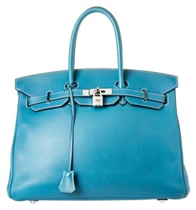 Herms Hermes Birkin Swift Satchel in Blue Jean