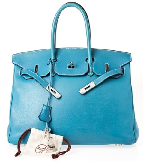 Hermès Birkin Blue Swift Satchel in Blue Jean