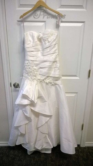 Eden Ivory Silky Dupione Sl013 Traditional Wedding Dress Size 4 (S)