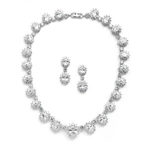 Mariell Silver Regal with Round Cz Stones 4238s Necklace