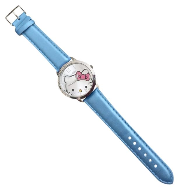 Item - Metallic Light Blue Stainless Steel Watch