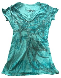 Affliction T Shirt Teal