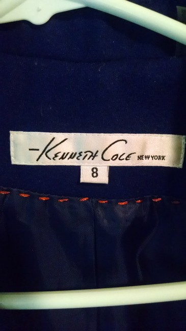 Kenneth Cole Gold Hardware Quilted Knit Above The Knee Winter Fall Wool Asymmetrical Moto Style Buckles Long Pea Coat