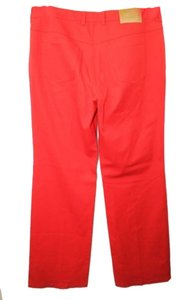 Escada Stretch Cotton Jeans 12 Straight Pants RED