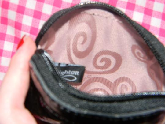 Brighton Brighton Black Patent Coin Purse Heart Logo