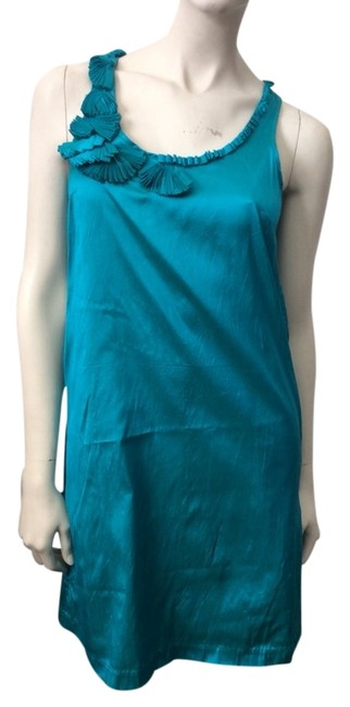 Calypso St. Barth Teal Short Casual Dress Size 4 (S) Calypso St. Barth Teal Short Casual Dress Size 4 (S) Image 1