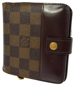 Louis Vuitton LOUIS VUITTON COMPACT ZIP BIFOLD DAMIER WALLET PURSE