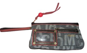 Marc Jacobs Wristlet Denim Signature Mult Color Clutch