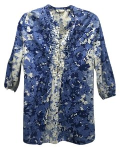551f8f871f77f Liz Claiborne Floral Blouse Cotton Casual Relaxed Loose Fit Flowy Design  Pattern Flowers Chic Fashion Spring