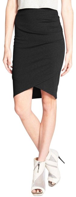 Leith Stretchy Pencil Jersey Bodycon Casual Skirt Black