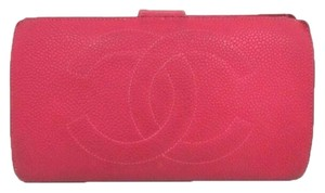 Chanel Chanel Caviar Wallet in Hot Pink 166359 CJJY9