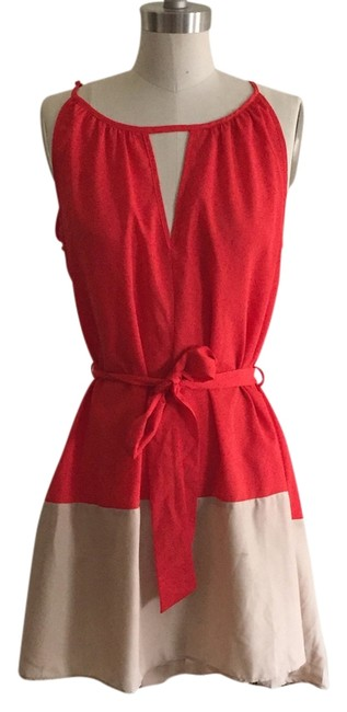 Preload https://item2.tradesy.com/images/peppermint-red-and-beige-mini-short-casual-dress-size-4-s-3460381-0-1.jpg?width=400&height=650
