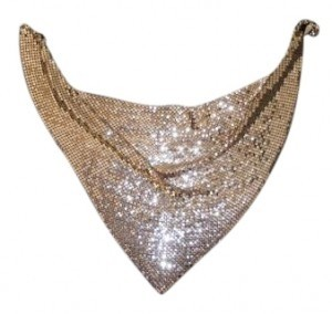 Whiting & Davis Whiting and Davis Gold Mesh Cowl Necklace