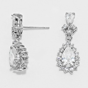 Elegant Crystal Teardrop Bridal Wedding Evening Party Earrings