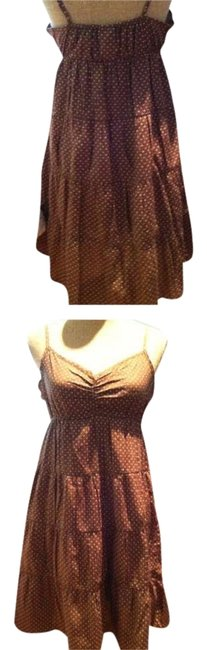 H&M short dress Light brown with Polka dots on Tradesy