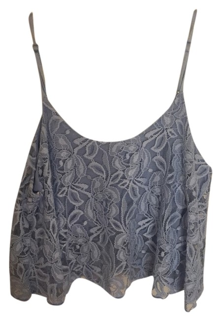 Only Mine Blue Crops Tank Top/Cami Size 12 (L) Only Mine Blue Crops Tank Top/Cami Size 12 (L) Image 1