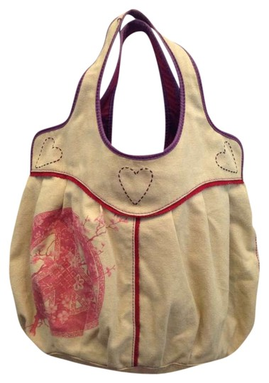 Lucky Brand Peace Love Canvas Tote in khaki