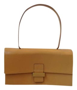 Francesco Biasia Leather Italy Satchel in tan