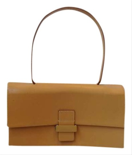 Francesco Biasia Leather Purse Italy Satchel in tan