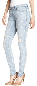 Marc Jacobs Light Wash Distressed Skinny Jeans-Light Wash