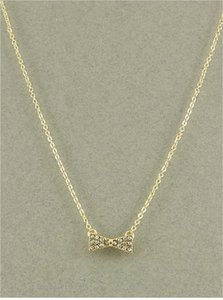 Nicole Gold Bow Pendant Necklace