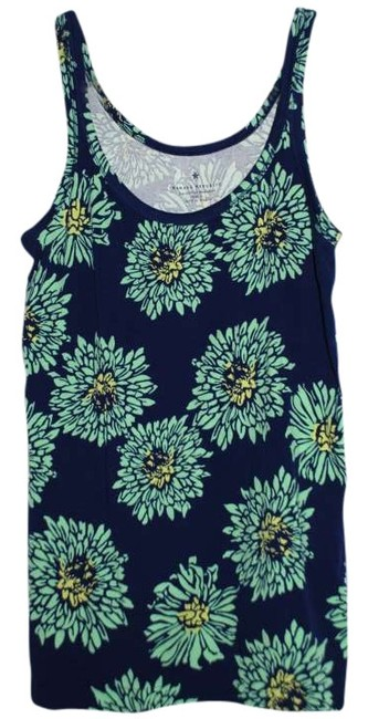 Banana Republic Top Navy/Green/Yellow