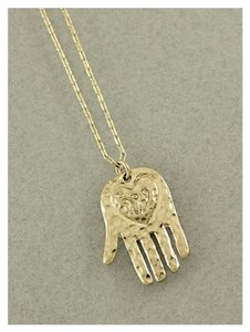 Nicole Gold Hamsa Matte Gold Necklace