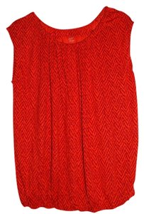 Ann Taylor LOFT Top Red/Orange