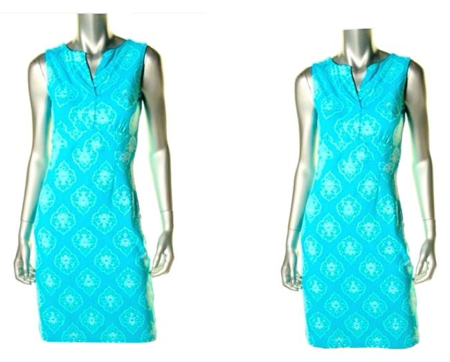 Preload https://img-static.tradesy.com/item/3462901/charter-club-turquoise-sea-combo-blue-pattern-sleeveless-casual-knee-length-workoffice-dress-size-8-0-0-650-650.jpg