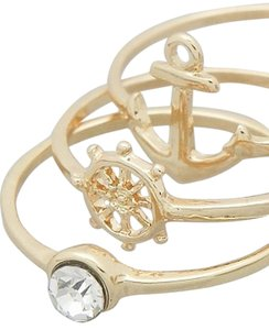 Nicole Gold Stackable Anchor Rings