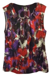 ALFANI Top red and purple