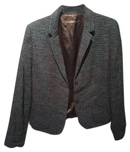 Tahari Day To Night Office Black and Teal Blazer