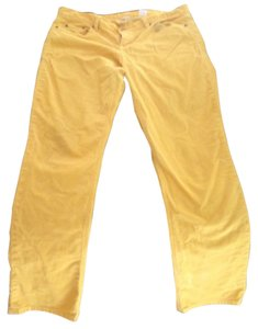 J.Crew Corduroy Skinny Pants Yellow