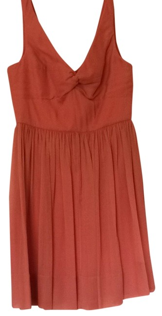 Preload https://item1.tradesy.com/images/jcrew-coral-peach-knee-length-cocktail-dress-size-10-m-3463480-0-0.jpg?width=400&height=650