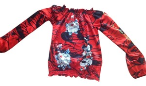 Christian Audigier Top Red